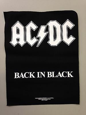 AC/DC - BACK IN BLACK - BACK PATCH - BRAND NEW - MUSIC BAND 613