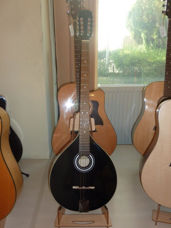 Black Irish Bouzouki, made in Romania by Hora, solid wood