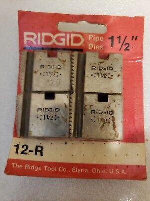 Ridgid Pipe Dies 1-12 12-r Made In Usa