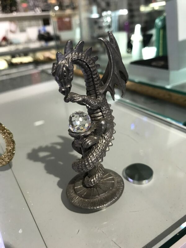 Spoontiques Pewter Winged Dragon Serpent HMR1754