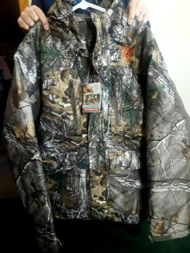 Hunting Clothing Camo Large Insulated Parka New W/ Tag RealTree MasterSportsmen
