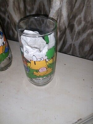 Camp Snoopy Collection Vintage Drinking Glass Peanuts McDonalds Charlie Brown