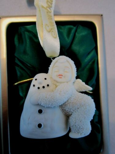 Dept 56 Snowbabies Love You Friend Hug Miniature Ornament Storybook Box Snowman