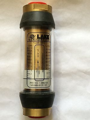 B4b-6wc-10 Aw Lake Basic Flow Meter - Brass - Water Use - 34 Nptf 1 To 10 Gpm