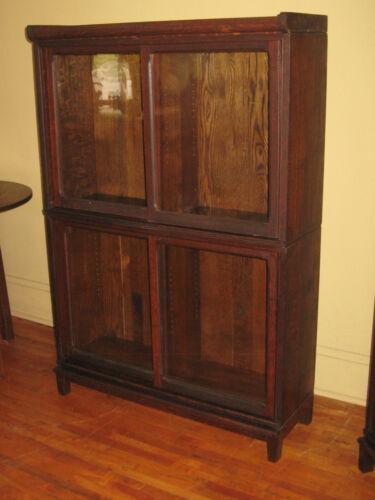 WE SHIP! Danner Quartered Mission Oak Stacking Bookcase Book Shelf Cabinet