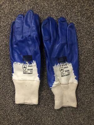 Bulk/ Job Lot Size 8 Work/Gardening Gloves - Blue/White 102 PAIRS
