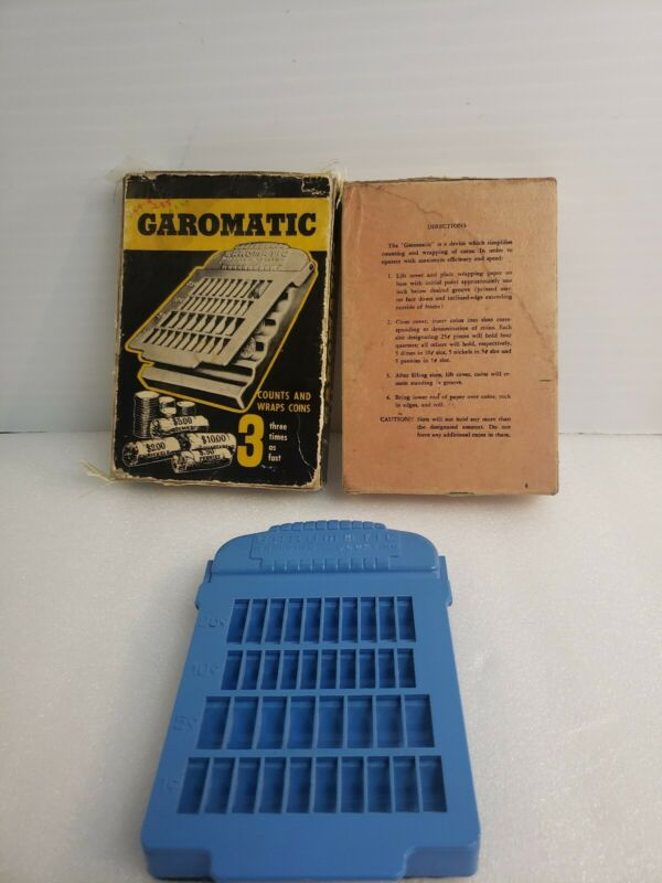 GAROMATIC Coin Counterwrapper manual wrapping-counting vintage antique rare wow