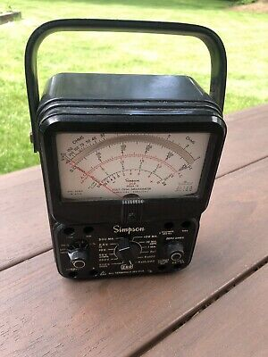 Simpson 260 7m Analog Volt Ohm Multi Meter As Is Free Shipping