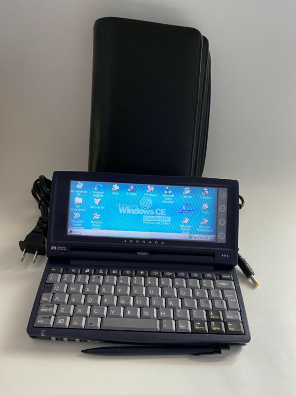HP Jornada 680 Handheld Windows CE With Stylus and Case.