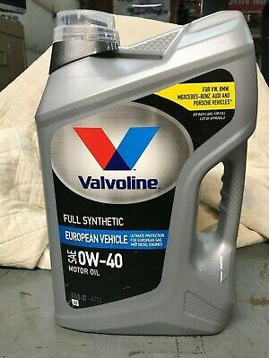 Valvoline  Advanced Full Synthetic SAE 0W-40 Motor Oil 5 Quart European Vehicles comprar usado  Enviando para Brazil