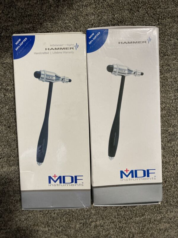 2 Pack MDF Tromner Neurological Reflex Hammer with built-in brush for cutaneous