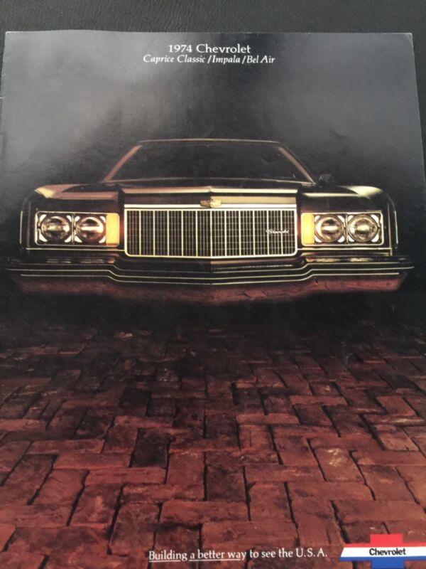 1974 Chevrolet Original Manufactured Brochure