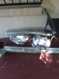 1957 Chevrolet front and rear bumpers.