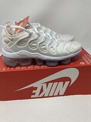 Nike Air Vapormax Plus Triple White 924453-100 Men's Sizes 4 Women's Sz...