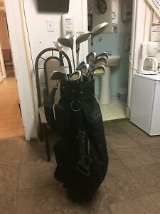 Gold clubs are cart