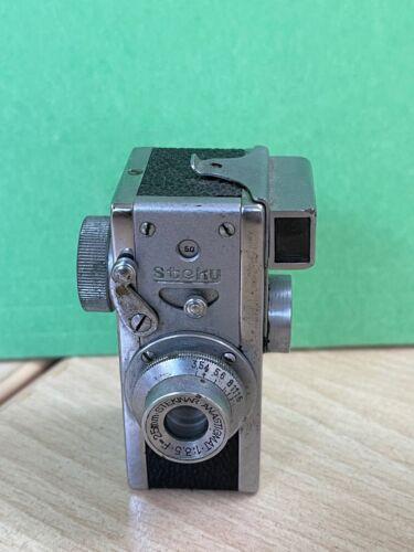 Steky 16mm miniature film camera Stekinar f25mm 1:3.5 lens
