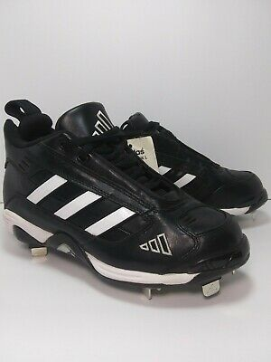 86629c001 ADIDAS Mens NEW EXCELSIOR CLASSIC L BASEBALL CLEATS Shoes Size 4.5 Black  White