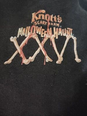 Knotts Scary Farm 26th Halloween Haunt Pullover Sweatshirt with Hoodie Black XL ](Grim Halloween Haunt)
