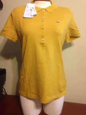 NWT Lacoste womens Canari Classic 5 button polo Shirt top size 38 or 42 6 10 NEW
