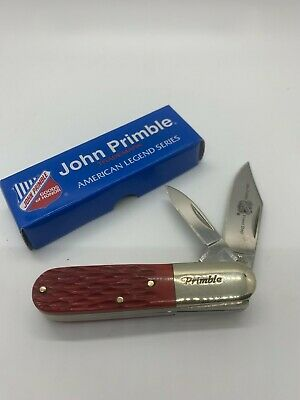 JOHN PRIMBLE 2-BLADED BARLOW KNIFE - RED JIGGED BONE - JP 30 0020RJB - NIB