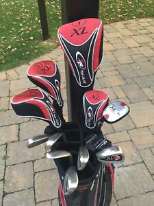 Top Flite XL left hand golf club set with bad
