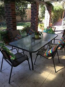 Patio set (table plus eight chairs) Trigg Stirling Area Preview