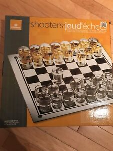 Jeu d'échec shooters - shot glass chess game