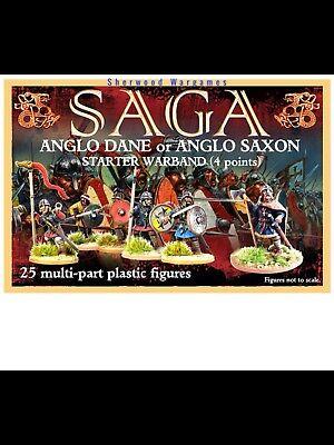 28mm Anglo Danes / Saxon 4 Pt Saga Warband, Gripping Beast Plastics, Ancients