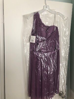 Short One Corded Lace Dress - Color Wisteria - Size 14 - Wisteria Color Dress