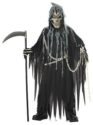Mr Grim Reaper Skeleton Creepy IT Child - Boys Grim Reaper Costume