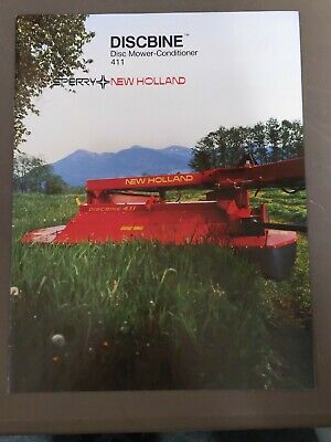 Sperry New Holland Discbine 411 Disc Mower Conditioner Brochure Specifications