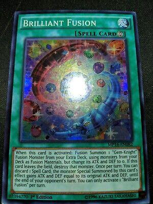 1x Brilliant Fusion MP16-EN082 Super Rare 1st Edition YuGiOh NM//M