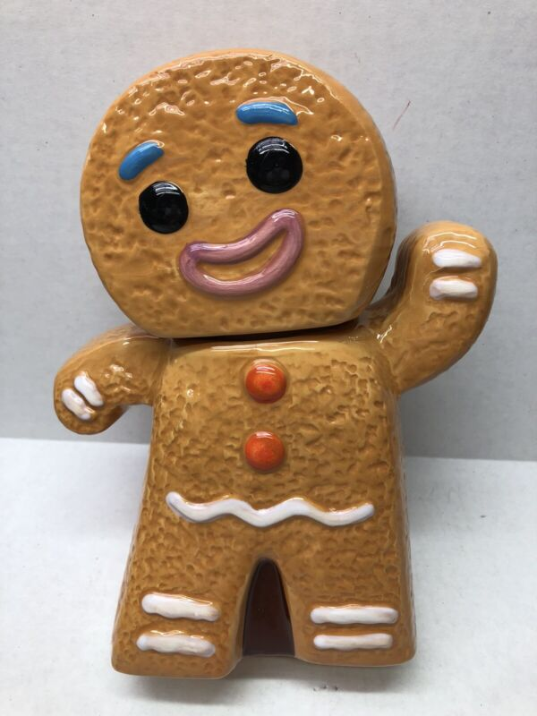 Cookie Jar Gingerbread Man Ceramic Jar Shrek Gingy