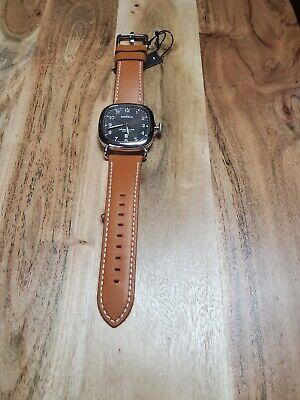 Shinola 41.5mm Guardian Watch Gray Dial/Tan Leather Strap