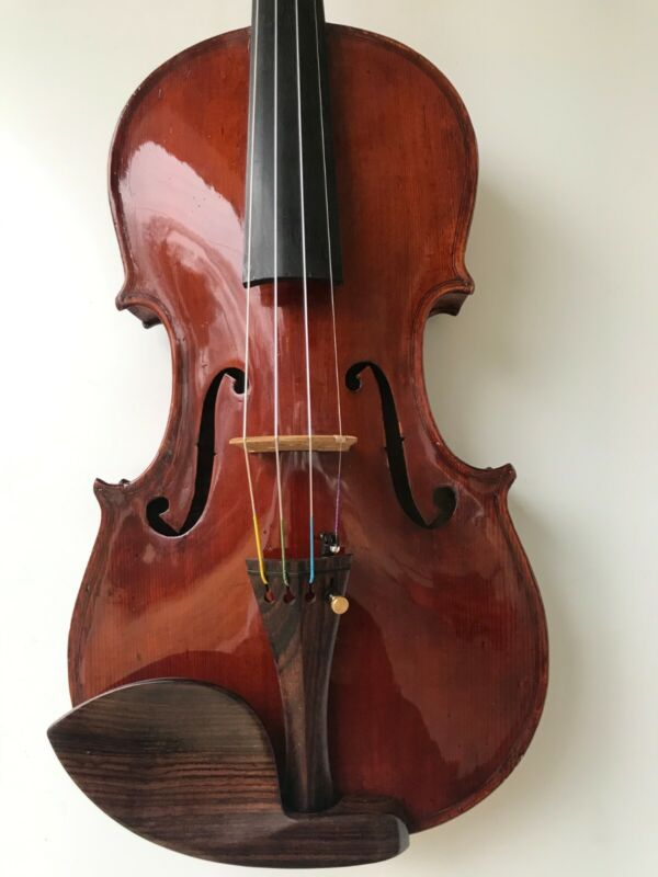 Old Used Theodore Heinrich 1921 German full size 4/4 violin for the advanced.