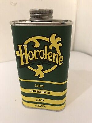 250ml Can Horolene Ammoniated Concentrated Clock Cleaning Solution fluid
