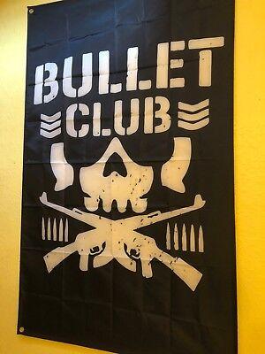 GIANT 5' NJPW BULLET CLUB WALL SCROLL FLAG BC KENNY OMEGA WRESTLING WWF ECW NWO