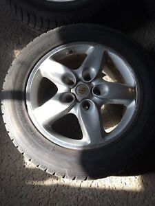 "PORSCHE CAYENNE 18"" MAGS WITH TIRES 5X130"