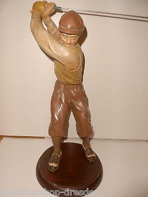19900 handgemalter Golfer Golfspieler Figur Kunststein 46 cm Golf player figure