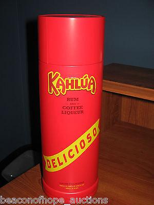 Kahlua Rum Coffee Liqueur Liquor Ltd. Ed Recipes On Tin Fifth Black Russian Bar -