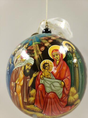 G. DeBrekht Wood Russian Nativity Ornament