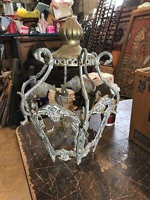 Tell LT vintage white metal pendant frame for chandelier 17.5 x 12.5 square](Chandelier Frame)