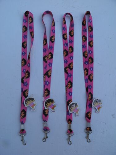 """Lot of 4 Dora the Explorer Lanyards 18"""" Nickelodeon BRAND NEW w/Tags FREE SHIP!!"""