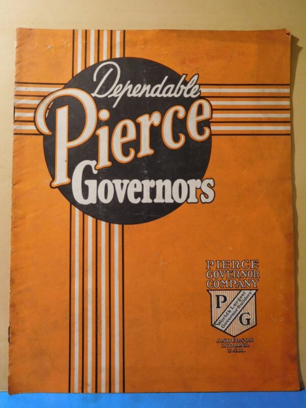 Pierce Governors Informational Catalog No Date 12 Pages SC