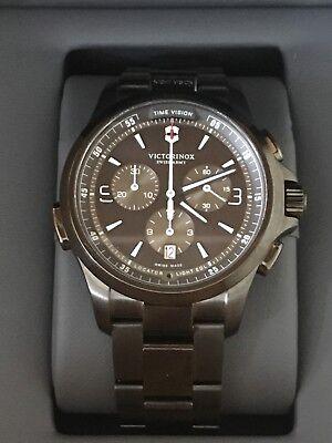 Victorinox Men's Night Vision 42mm Steel Bracelet & Case Quartz Watch 241730