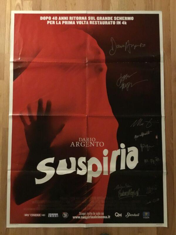Suspiria original poster signed x10 Dario Argento Goblin Jessica Harper Italian