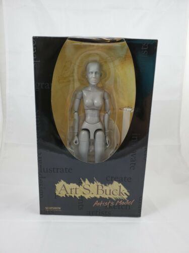 "NIB Art S Buck Artists Model Gray Female Nude SIDESHOW 12"""