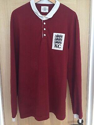Mens Kent & Curwen Three Lions Rugby Shirt Top RRP £158 XL