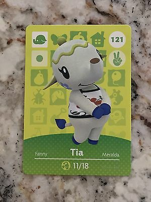 SUPER SALE! TIA #121 Animal Crossing Amiibo Card Mint From Series 1, 2, 3, 4, 5.