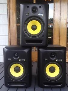 """3 x KRK Rokit 6 Monitors and 10"""" Sub West Wollongong Wollongong Area Preview"""